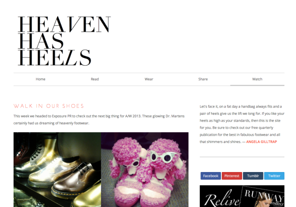 An Editor's Pick Heaven Has Heels Magazine Feature Press