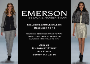 The Sample Sale Skinny: Emerson by Jackie Fraser-Swan Sample Sale In Boston