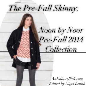 The Pre-Fall Skinny: Noon By Noor Pre-Fall 2014 Collection